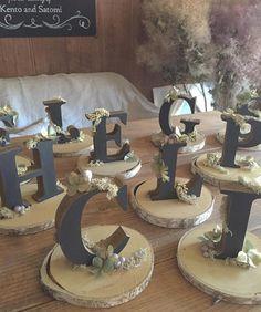 いいね!88件、コメント11件 ― satomi's wedding accountさん(@teras_wedding)のInstagramアカウント: 「✴︎ 【alphabet objet】 ・ ・ テーブルナンバー製作 ・ ・ ずーっと前に長野で買っておいた、白樺の木の台に100均アルファベットを染めたものをのせました(。 ・ω・) ・…」