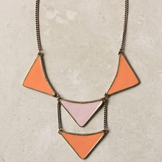 Geometric necklace. Anthropologie.