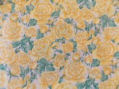 WtW Estate Fabric Hoffman Floral Tie the Knot Rose Roses Yellow Garden BTY Quilt