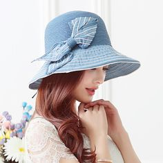 Handmade straw sun hat with bow best womens hats for sun protection summer wear