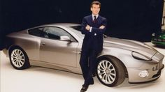 Pierce Brosnan and Aston Martin V12 Vanquish