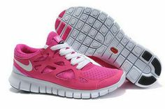 new product 7f2d2 32b9c Cheap Nike Free Run 2 Women s Running Shoes Pink Flash White