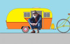 Some day I would like to make this Coroplast 1/2 scale vintage camper. It would be perfect for a bicycle.