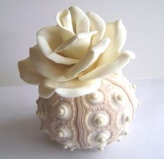 Beach Wedding Decoration. Clay Flowers Table Setting. by parsi