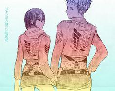 こじらせている Attack on Titan / Shingeki no Kyojin AoT/SnK | Jean Kirstein/Kirschtein x Mikasa Ackerman JeanKasa/JeanMika | Anime Manga cute couple OTP