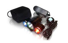 Night ProVision™ PS1200 - Police Bike Light Set: 1200 Lumens XM-L T6 LED with Red/Blue Strobe