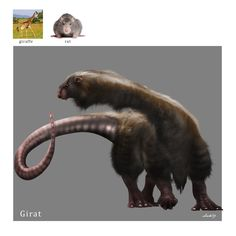 I've discovered a random animal generator online that simply gives you separate images of two (or more) animals. Anyway, I decided to keep the animal image randomizer spinning, and see what fresh nightmare it bestows upon me (and by transit of property, on you guys ;-) What would we have if moles did away with their shyness and decided to venture to the surface in search of bigger game? Something big and bear-like, I guess. The eyes are still pretty useless, but nose, ears and sensitive ...
