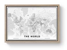 ✓ Order one of our world maps on canvas and get 60 push pin flags! ✓ Pin the places you visited or where you're going next! World Map Europe, Londonderry, Us Map, Floating Frame, Yesterday And Today, Just Giving, Canvas Prints, Artwork, Printed