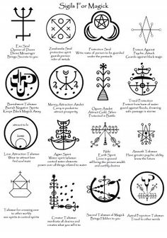 Sigils for magick - again, some of them are purely so that they can be spotted when others use them, especially that 'Creator' Talisman.  You'd have to be suicidal or insane to use that...