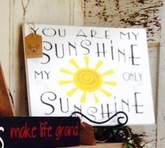 You are my sunshine wood sign - BDD