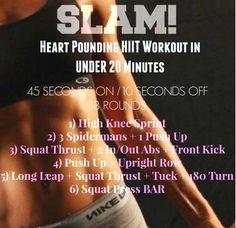 SLAM! Heart Pounding HIIT BLAST in UNDER 20 Minutes