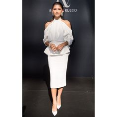 Do not miss also the stylish attendee of Paris Couture Week this season. Zendaya the actress of Spider-Man: Homecoming movie was made it by looking chic in off-shoulder top midi skirt and pumps shoes in white when attending British duo couturier show. While at night she played in fun with ruffled knit dress by Viktor & Rolf with high bun hairstyle. #Zendaya #parishautecouture #spidermanhomecoming #mcstarstyle  via MARIE CLAIRE INDONESIA MAGAZINE OFFICIAL INSTAGRAM - Celebrity  Fashion  Haute…