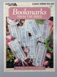 LEISURE ARTS 2900 Cross Stitch Bible Bookmarks #LeisureArts #Bookmark