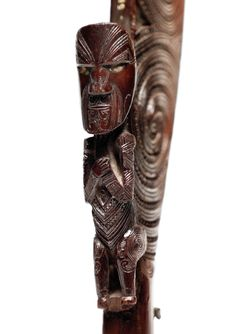 Native - A Maori hand club Polynesian People, Long White Cloud, Maori People, Walking Sticks And Canes, Maori Art, Ocean Art, Tribal Art, Wood Carving, Creative Art
