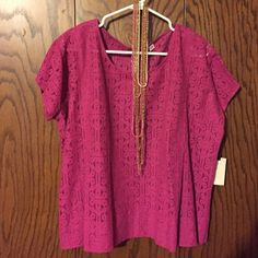Sunset Rd. Lace Top Oversized top to wear over a cami (not included) Sunset Rd. Tops