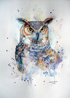 Watercolor animal by Edyta Suszek