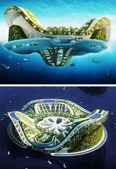 Lilypad - floating city concept by Vincent Callebaut Best Picture For Eco city. - The Concept of the Eco-city Floating Architecture, Unique Architecture, Futuristic Architecture, Sustainable Architecture, Landscape Architecture, Chinese Architecture, Architecture Office, Future Buildings, Office Buildings