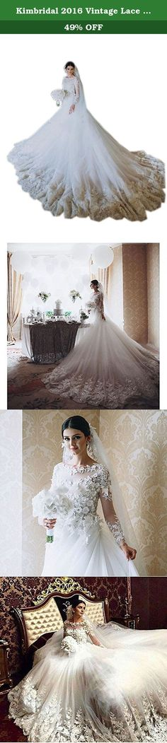 Kimbridal 2016 Vintage Lace Applique Long Sleeve Ball Gown Wedding Dress for Bride. We can customize the dress color and sizes for you .If you need this service ,please feel free to contact us before placing the order. Customized Dress: Custom made process (from the date we receive your payment and measurements) will take about 1-2 weeks.The the delivery time is about 7 days. the total time is about 20 days. If you can not sure your right size according our size chart, you can send us…