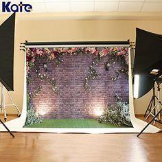 7 x 5ft Christmas Brick Wall Background Green Floor Backdrop Photography Backdrops