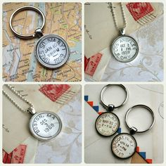 Vintage City Postmarks - have a favorite spot? Tell everyone with a vintage postmark pendant or key ring, by CrowBiz > click through to see city posts currently available >