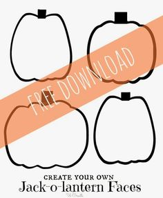 Jack-o-Lantern Faces - Let the kids draw their own Jack-o-lantern faces - free printable by UCreate for Spooktacular September