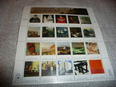 20 American Art full sheet uncut unhinged us postage by oxfordgs