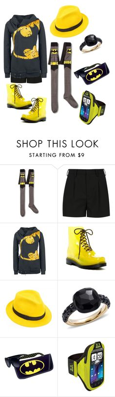 """""""Bat Girl Ya Think?"""" by sweetyincago ❤ liked on Polyvore featuring Yves Saint Laurent, Furla, Mademoiselle Slassi and Pomellato"""