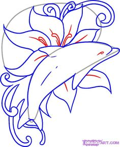 How to Draw a Seahorse | how-to-draw-a-dolphin-tattoo-step-6.jpg
