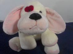 "Russ Berrie CYRANO Puppy DOG Plush Red Eye Floppy Bean Bag Stuffed Toy 13""  #RussBerrie"