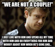 Defensively Heterosexual John Watson memes | quickmeme