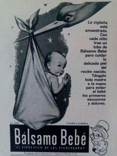Feliz Día de la Cigüeña #diadelamadre  #balsamobebe #publicidadantigua