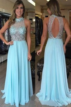 2017 Fashion Style Sexy Backless Long Prom Dresses With Beading TP0136
