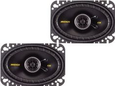 """Kicker 40CS464 4""""x6"""" 2-way Car Speakers by Kicker. $49.95. Peak: 150 watts, RMS: 50 watts, Impedance: 4 Ohms, Reliable, remarkable-sounding coaxial for easy drop-in, factory upgrades, Reduced-depth baskets, Extended Voice Coils"""