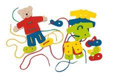 Dřevěné motorické hračky   Provlékací hračky   Dřevěný provlékací medvídek   Dřevěné domečky pro panenky, dřevěné hračky, dětské dřevěné kuchyňky, dřevěné vláčkodráhy, dřevěné dětské nářadí a vše, co ke hraní patří