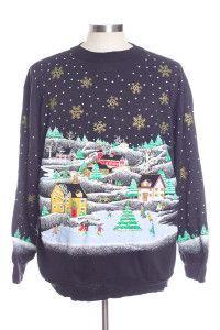 Black Ugly Christmas Sweatshirts 31271