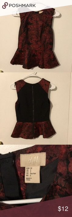 H&M dressy top Worn once, great condition. Fitted top H&M Tops Blouses