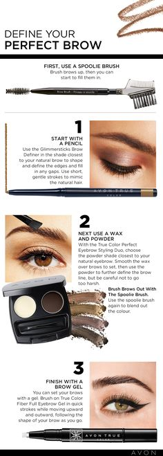 Define your brows in 3 steps