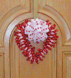 Valentine Candy Wreath Heart Edible by CandyWreathsbyCarla on Etsy