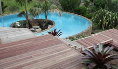 Purpleheart 90mm x 21mm Watershed Decking