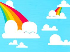Clouds and Rainbows Wallpaper by bombthemoon on DeviantArt