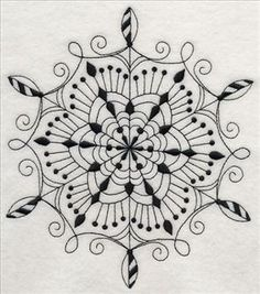 Machine Embroidery Designs at Embroidery Library! - A Blackwork Snowflakes Design Pack - XL Blackwork Embroidery, Machine Embroidery Applique, Diy Embroidery, Cross Stitch Embroidery, Cross Stitches, Tatoo Henna, Tatoo Art, Art Tattoos, Tatoos