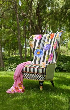 My favorite new upholstered piece... The Cutting Garden Wing Chair!