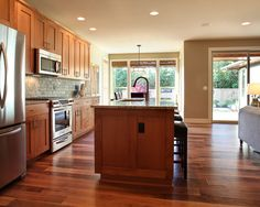 Spaces Natural Cherry Shaker Cabinets Design, Pictures, Remodel, Decor and Ideas - page 4