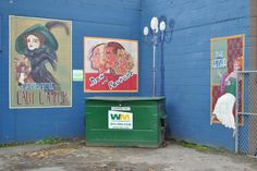 Mural of old theatre posters. Vernon, BC