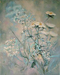 Купить Картина маслом Полевые цветы. Картина маслом, авторская живопись - картина маслом