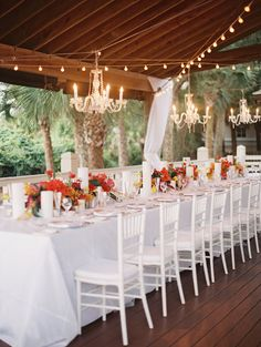 HILTON HEAD ISLAND WEDDINGS - Beach wedding at Sonesta Resort with vibrant flowers by Embellished Events, A Floral Affair and Landon Jacob