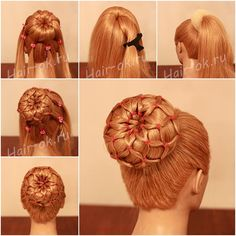 How to DIY Easy Sock Bun Updo Hairstyle with Elastic Web | www.FabArtDIY.com LIKE Us on Facebook ==> https://www.facebook.com/FabArtDIY