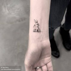 Bunny Tattoos, Rabbit Tattoos, Mini Tattoos, Leg Tattoos, Sleeve Tattoos, Arrow Tattoos, Word Tattoos, Tatoos, Cute Tattoos On Wrist