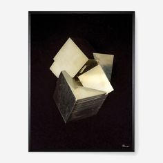 Photographic print by Hamish Robertson from the Pyrite Studies series. A limited edition of only 100 prints (for each size) digitally print on