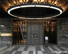 Entrance Foyer, Entrance Design, Door Design, Corridor Design, Ceiling Detail, Ceiling Design, Architecture Details, Interior Architecture, Lobby Design